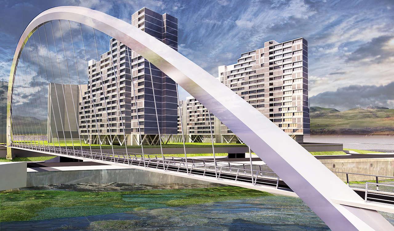 Urbanización en Chalyabinsk Rusia concurso 1er premio render 6