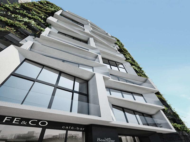 Loft boutique Lima Perú concurso vivienda arquitectura fachada
