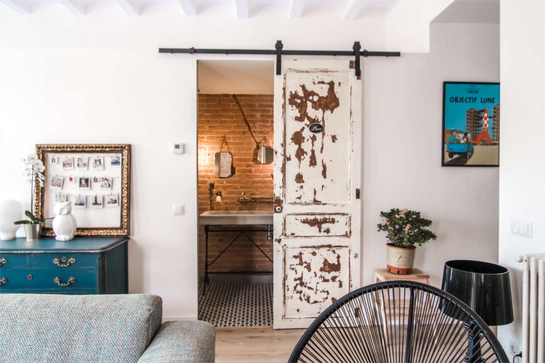 Vivienda en el Clot Barcelona reforma interiorismo salón