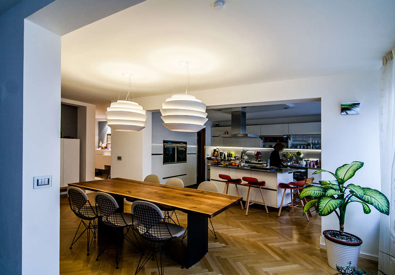 Reforma vivienda en Munich Alemania comedor