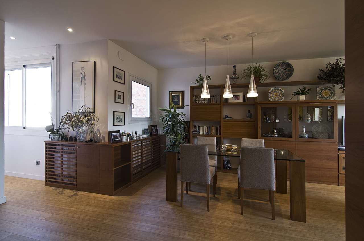 Reforma vivienda en Sagrada Familia Barcelona salón