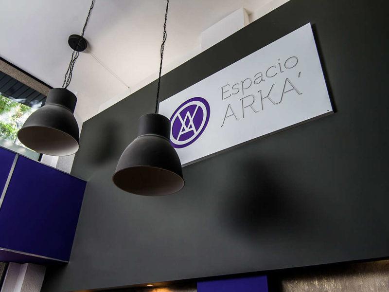 Vestíbulo Espacio Arká reforma interiorismo Barcelona