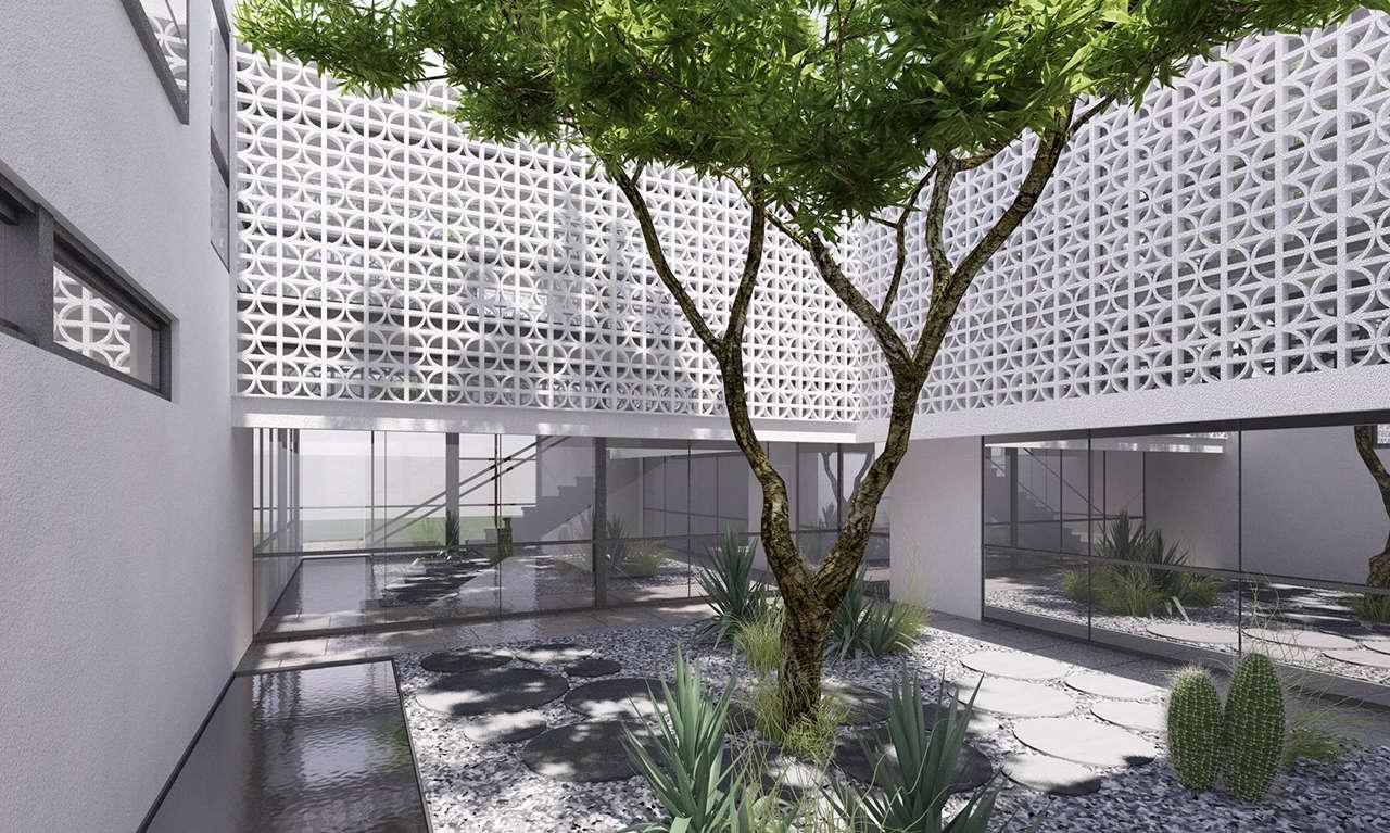 Render 1 Fechac Mexico Ciudad de Juarez proyecto arquitectura