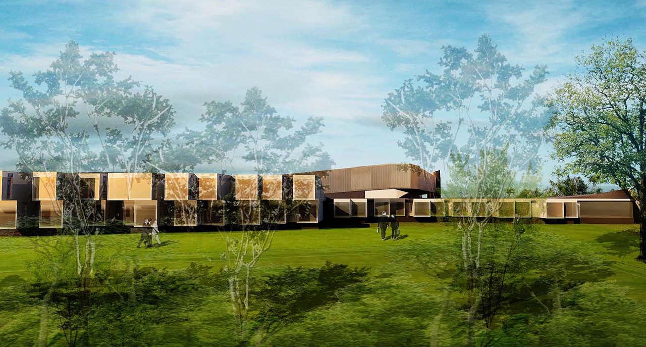 Render 1 CERN Ginebra Oficinas proyecto arquitectura