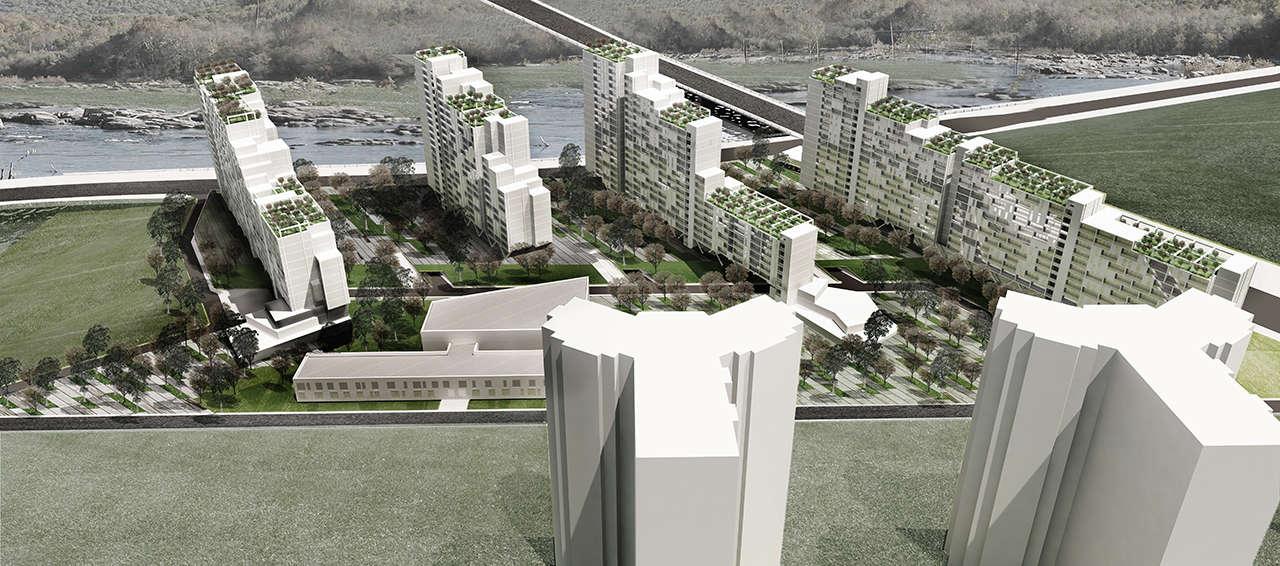 Urbanización en Chalyabinsk Rusia concurso 1er premio render 5
