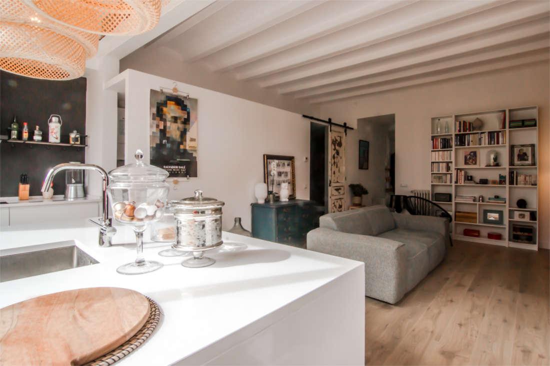 Vivienda en el Clot Barcelona reforma interiorismo salón 4