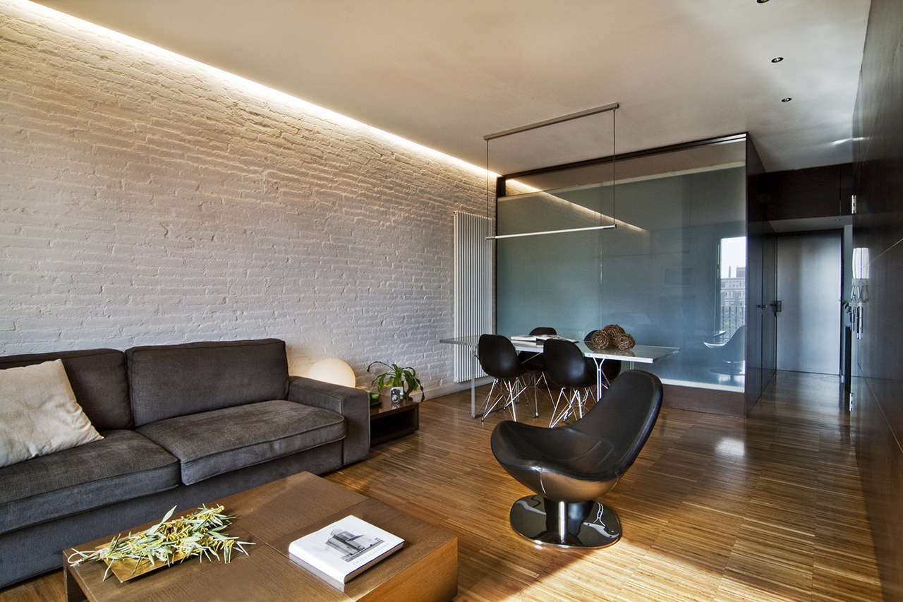 Reforma vivienda en el Poblenou Barcelona salón 5