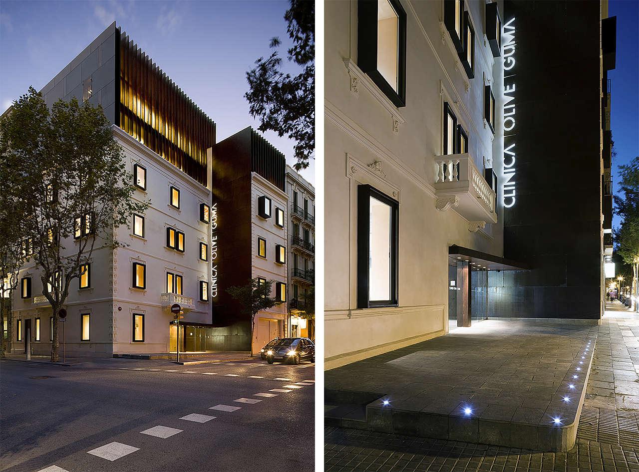 Clínica Olivé Gumà Barcelona reforma edificio remonta fachada