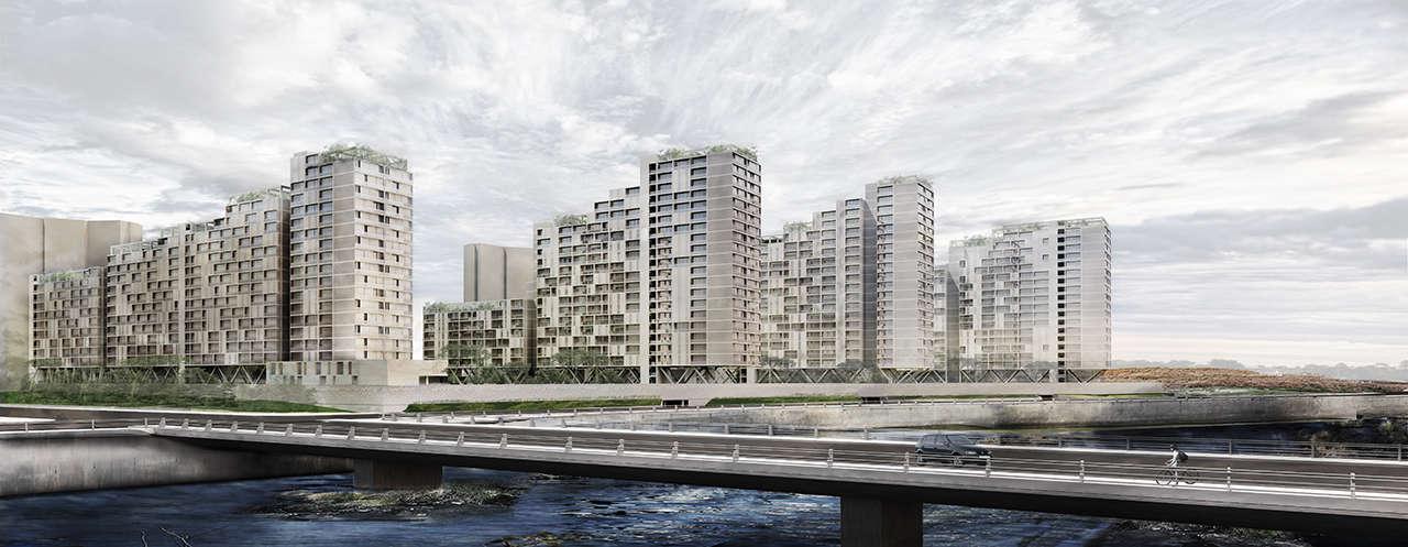 Urbanización en Chalyabinsk Rusia concurso 1er premio render 4
