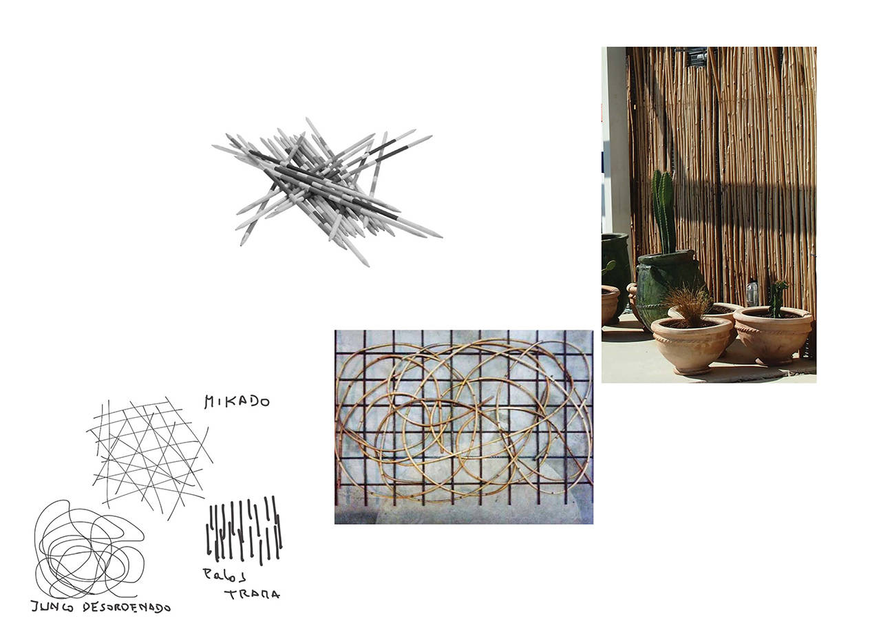 Reforma envolvente pabellón España expo Shanghái China bamboo