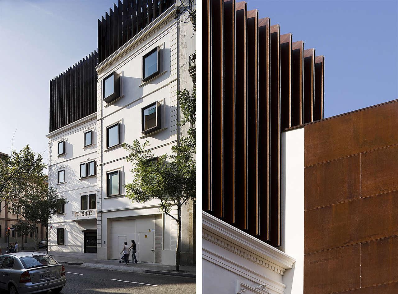 Clínica Olivé Gumà Barcelona reforma edificio remonta fachadas