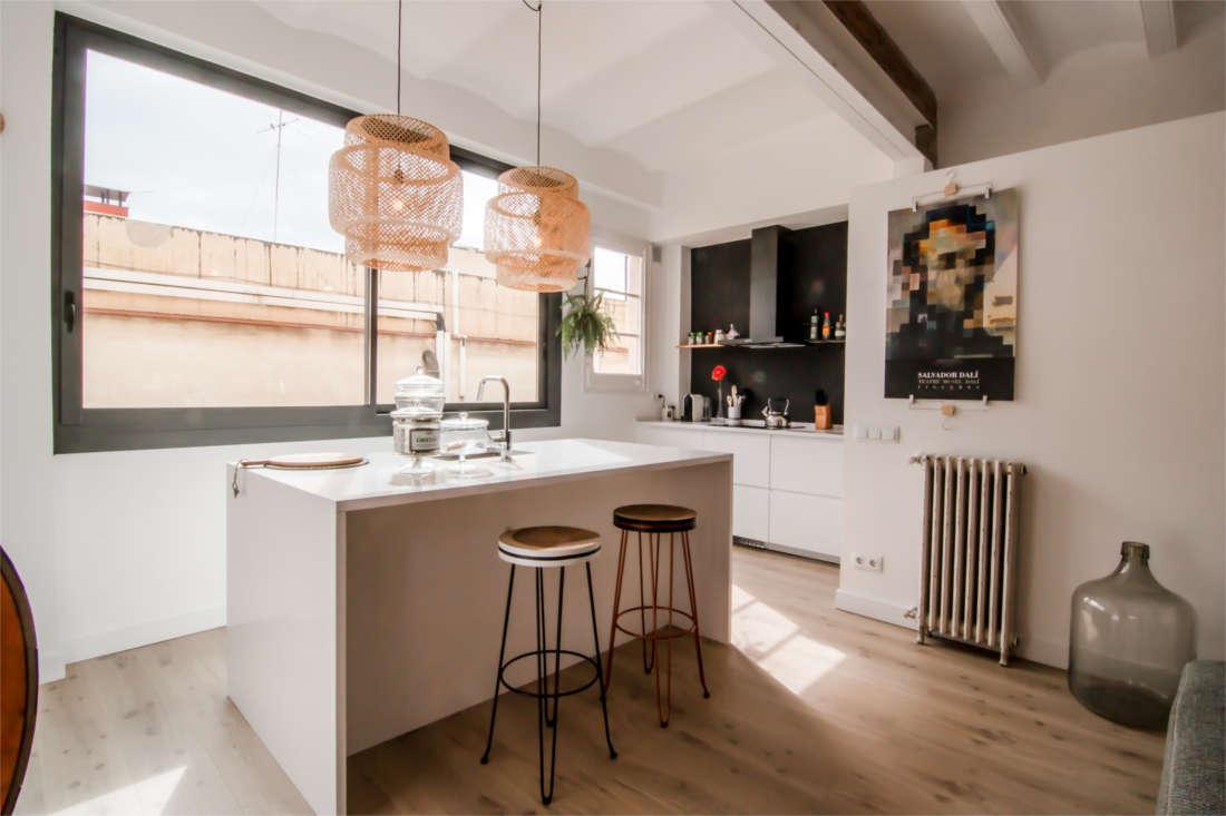 Vivienda en el Clot Barcelona reforma interiorismo cocina 2