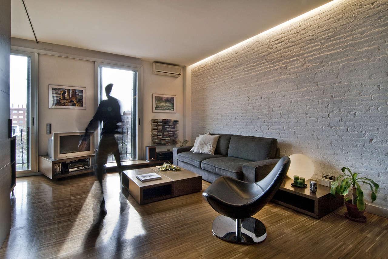 Reforma vivienda en el Poblenou Barcelona salón 4