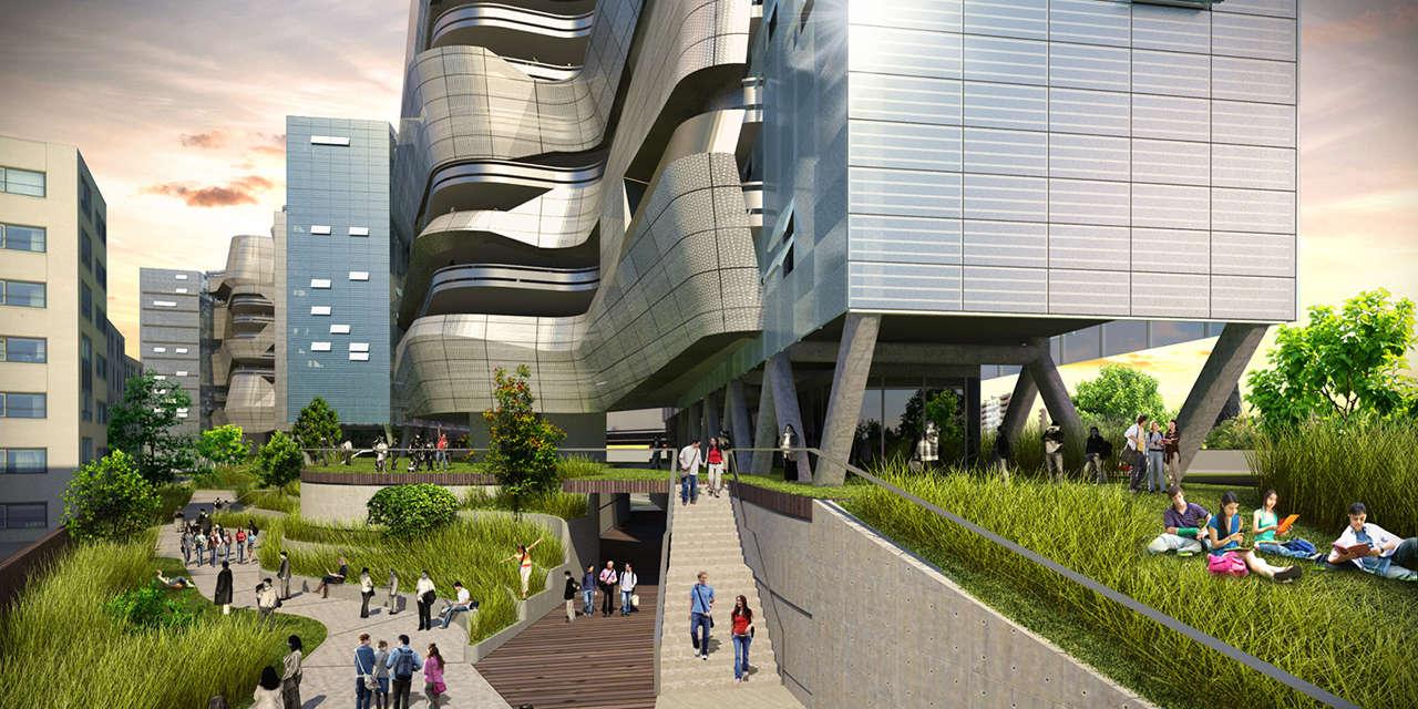 UTEC Lima Perú Universidad proyecto arquitectura accesso