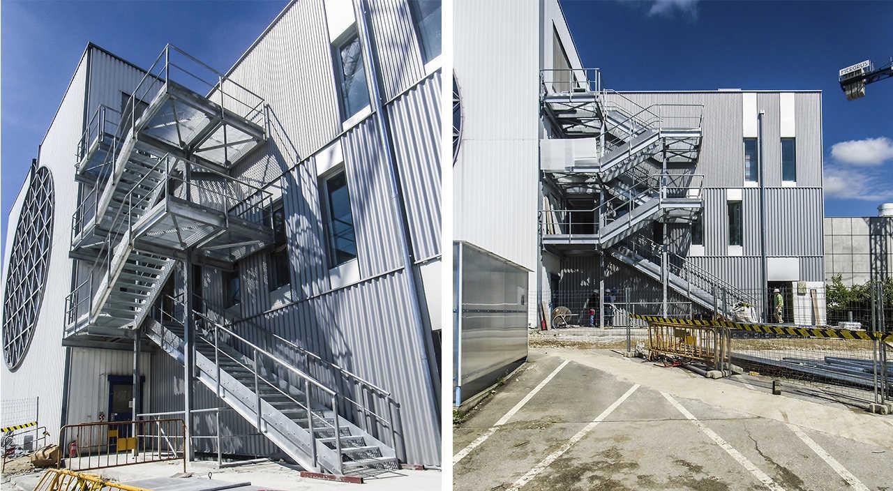 CERN Ginebra Oficinas obra nueva edificio 3862 escalera
