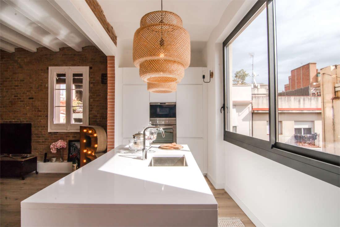 Vivienda en el Clot Barcelona reforma interiorismo cocina
