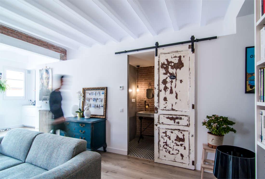 Vivienda en el Clot Barcelona reforma interiorismo salón 3