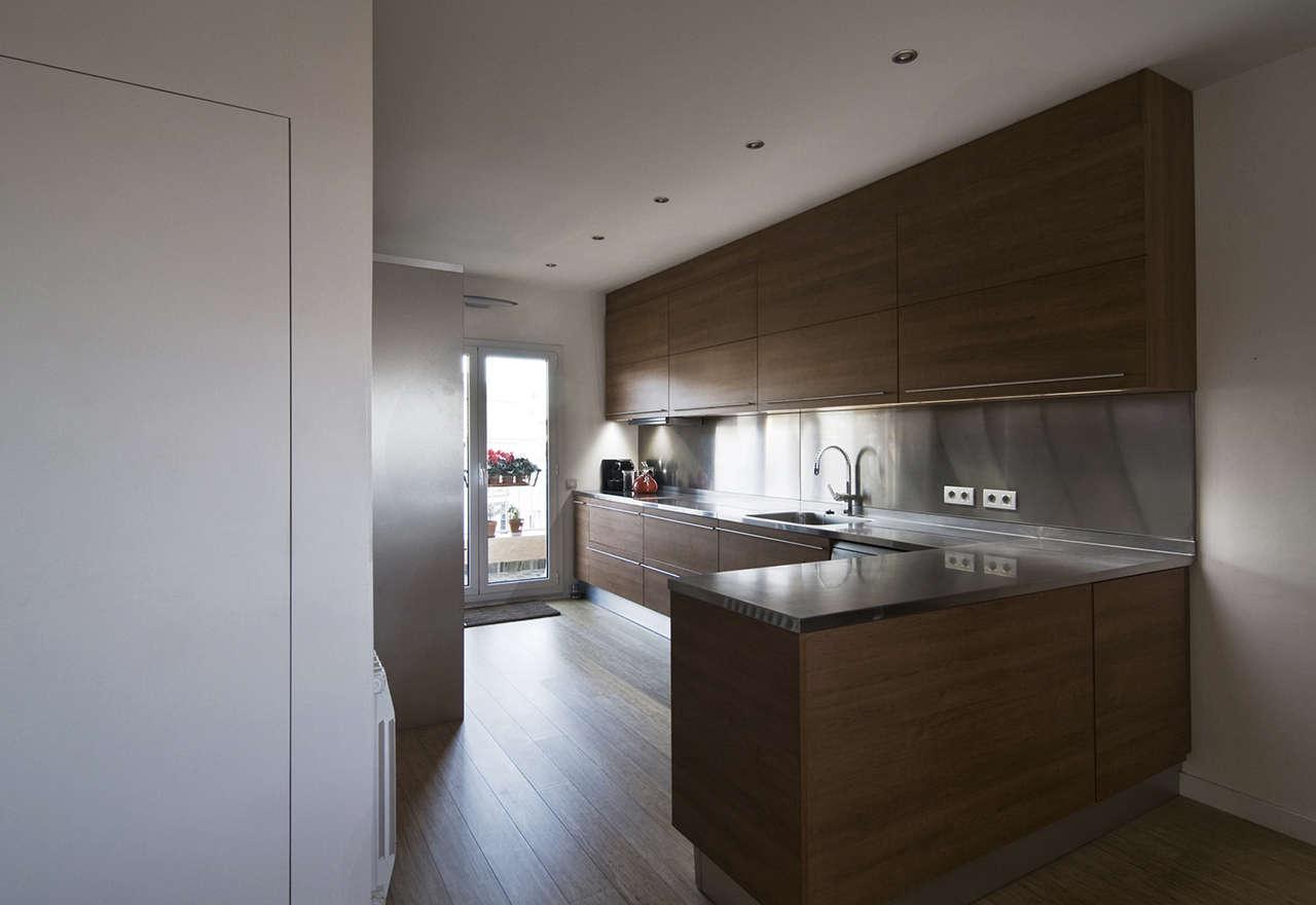 Reforma vivienda en Sagrada Familia Barcelona cocina