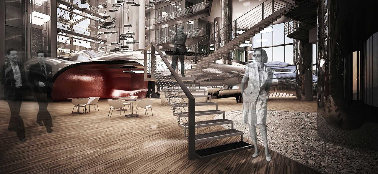 Diagonal 640 Barcelona Oficinas proyecto arquitectura patio interior