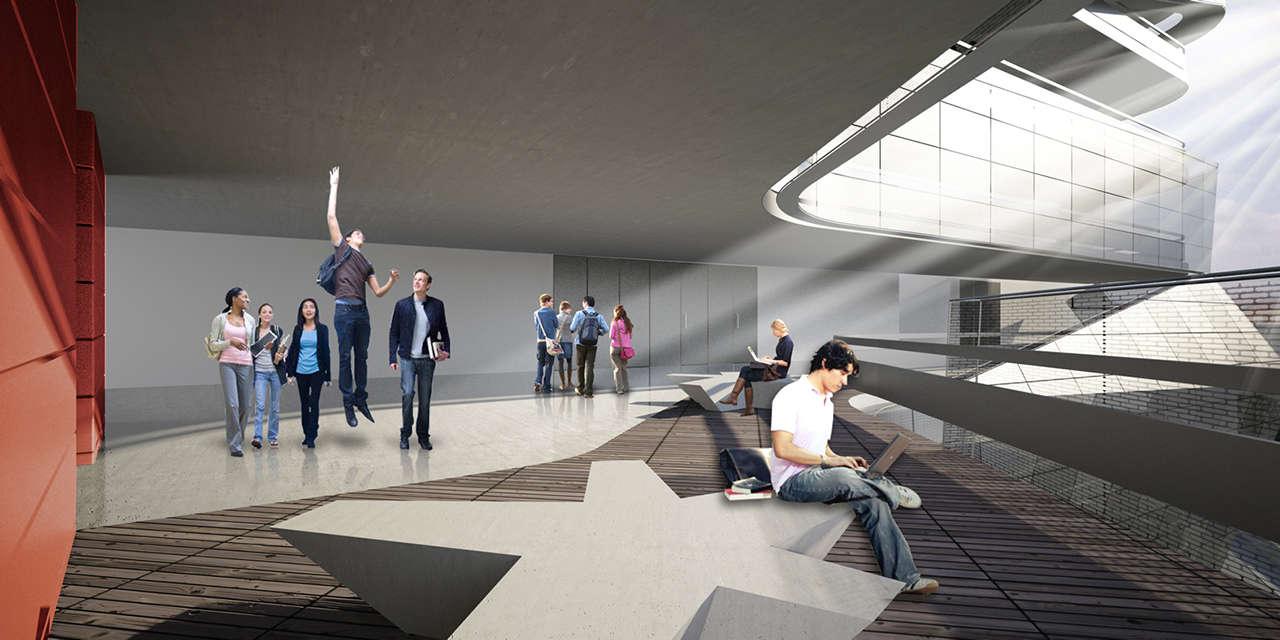 UTEC Lima Perú Universidad proyecto arquitectura interior