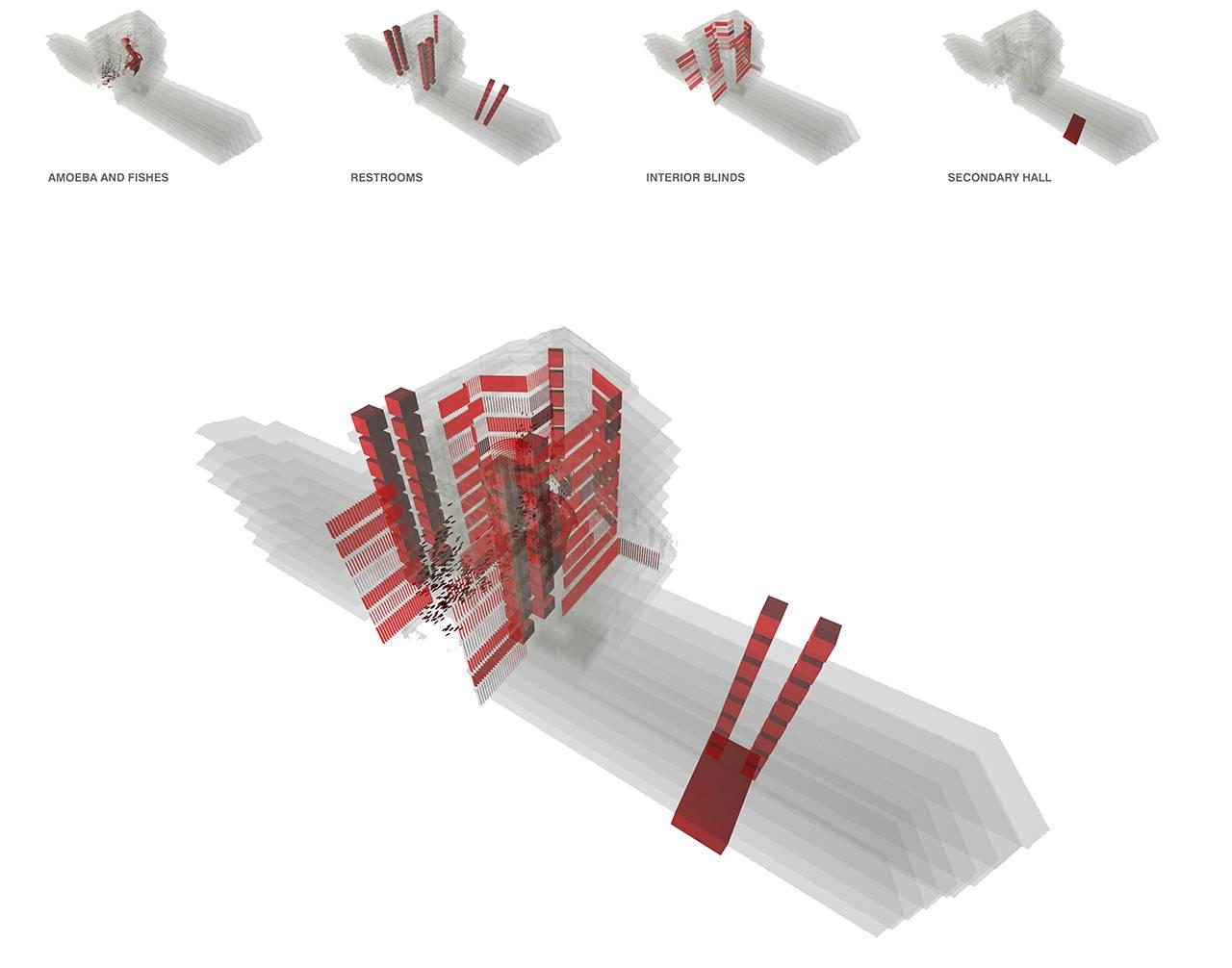 Diagonal 640 Barcelona Oficinas proyecto arquitectura esquema 3