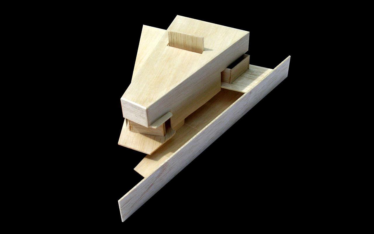 Vivienda Unifamiliar Coma-ruga arquitectura maqueta 3