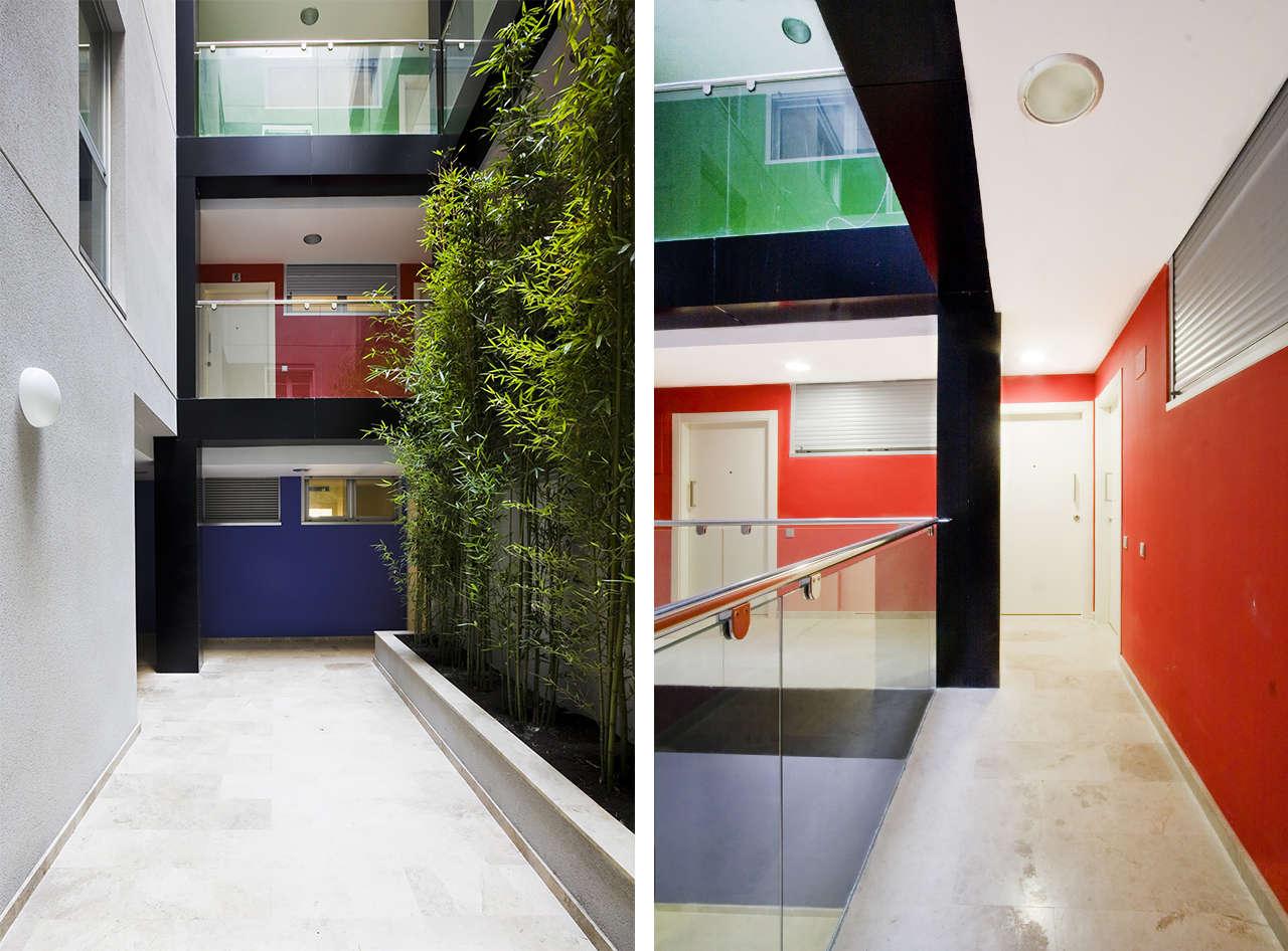 Edificio de viviendas en Sabadell obra nueva patio 2