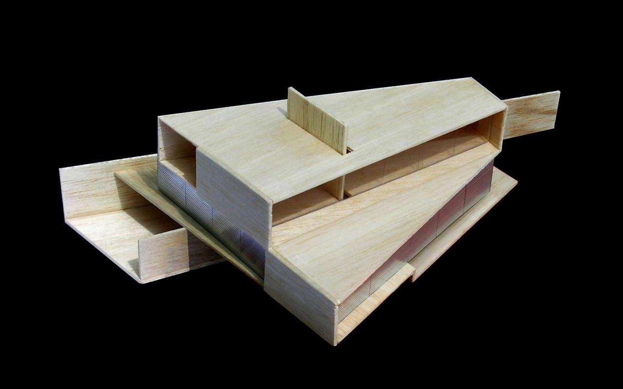 Vivienda Unifamiliar Coma-ruga arquitectura maqueta 2