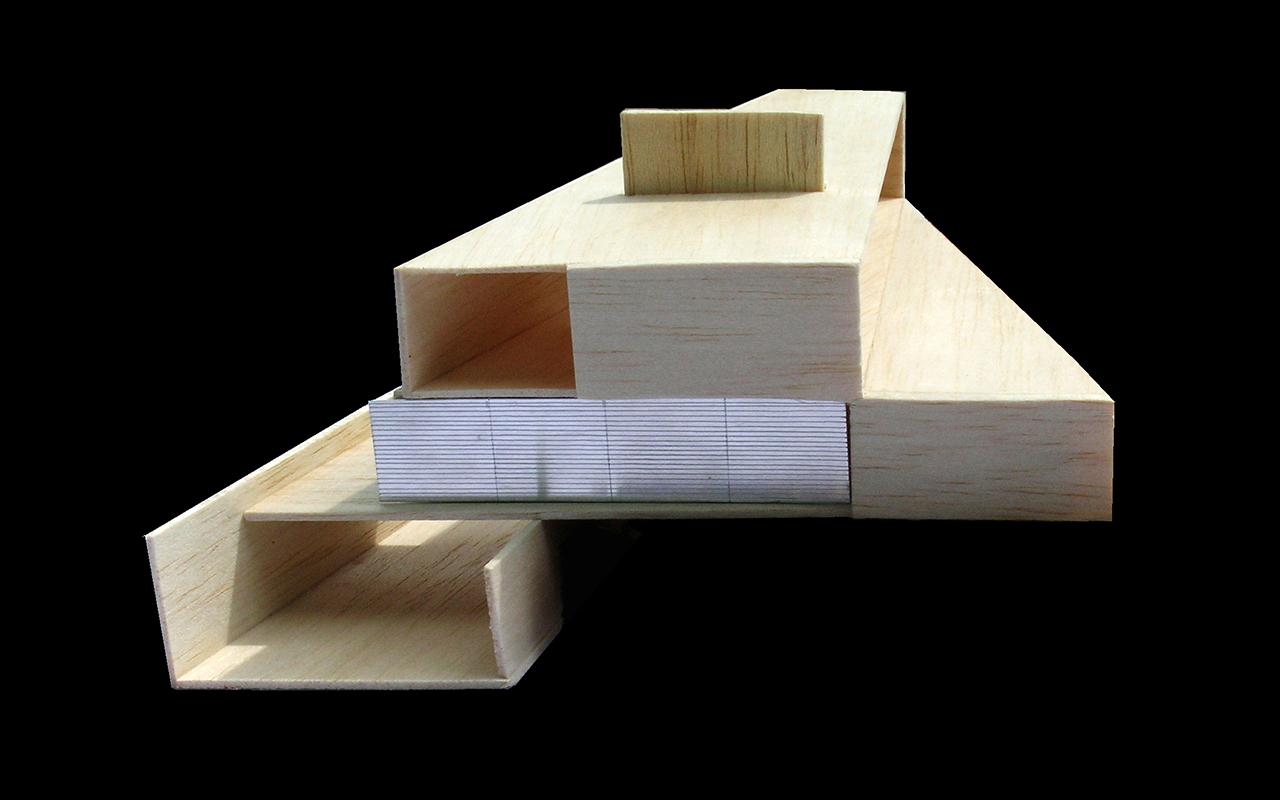 Vivienda Unifamiliar Coma-ruga arquitectura maqueta 1