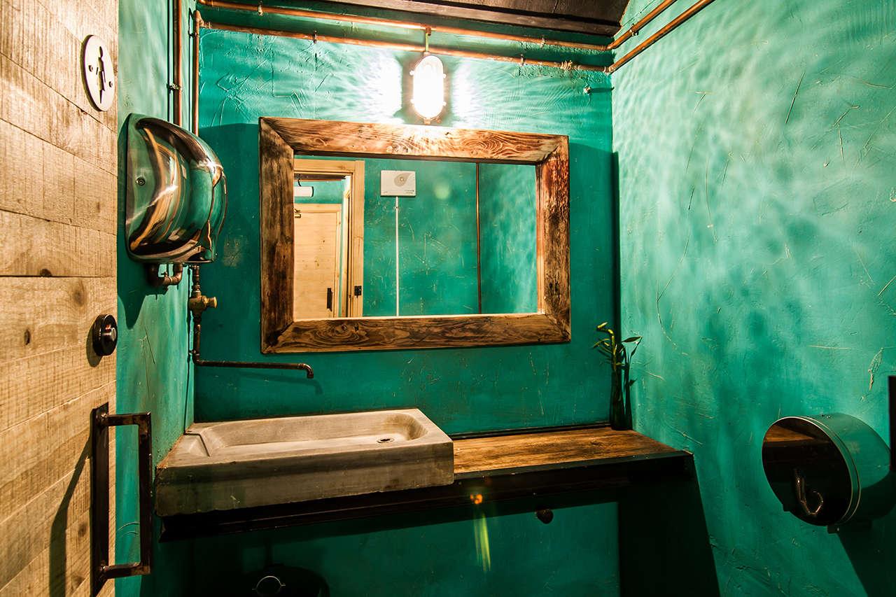 La Central baño reforma interiorismo vintage