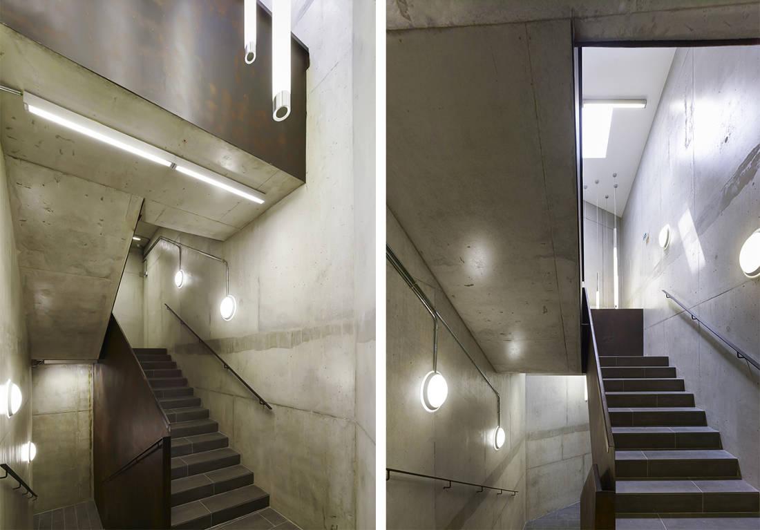 CERN Ginebra Oficinas obra nueva edificio 774 escalera hormigón